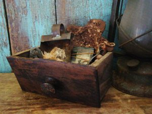 Antique Spice Drawer on Etsy. Source: Prairie Antiques.