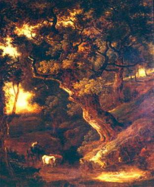 "Gainsborough. ""Landscape with Cows and Human Figure."""