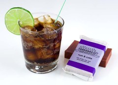 """Rum & Coke, next to a hand-made """"Rum & Coke"""" soap from Aromaholic.net (click on the photo for the link.)"""