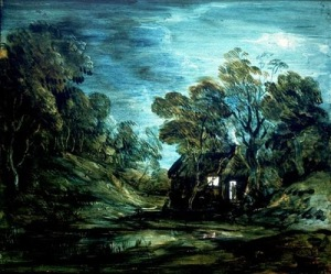"Gainsborough. ""Moonlight Landscape with Pool."""