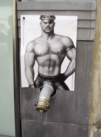 Some of the marketing for Tom of Finland.