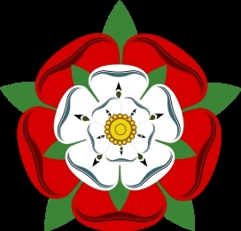 The Tudor Rose, emblem of the royal house of King Henry VII, King Henry VIII and Queen Elizabeth I.