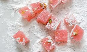 Rose-flavoured Turkish Delight.