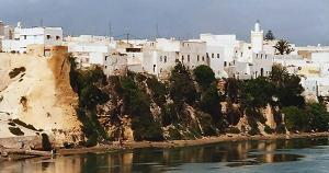 The city of Azemmour, Morocco.
