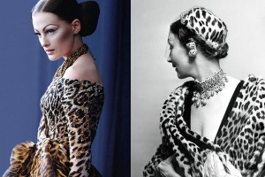 Right: Mitzah Bricard. Left: 2011 model for Dior's Mitzah makeup collection. Source: Beautylish.com