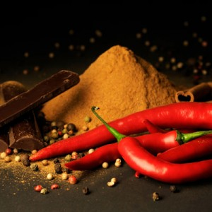 Pre-Columbian chocolate with chilies. Source: CaFleureBon.