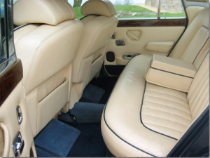 Rolls-Royce Silver Shadow interior.Source: Wedcars.