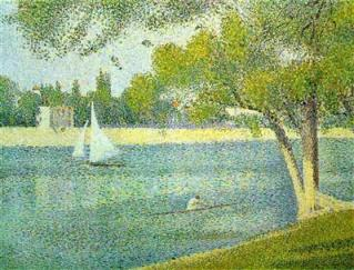 """The Seine at Le Grande Jatte"" by George Seurat."