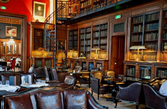 St. James Hotel's Library Bar, Paris.  Source: Oyster.com