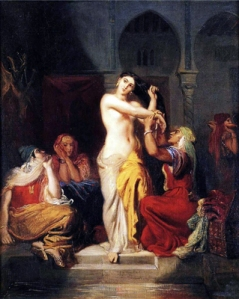 "Théodore Chassériau - ""Moorish Woman Leaving the Bath in the Seraglio."" Wikipedia"