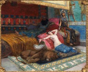 """The Slave and the Lion"" by Georges Rochegrosse.Source: Tumblr"