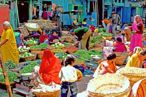 "Udaipur Market. Photo: Amos Rojter or ""Brother Amos."" Source: Redbubble.com"