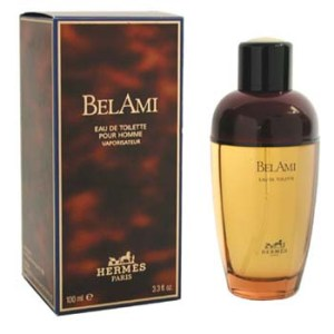 Vintage bottle and box of Bel Ami.