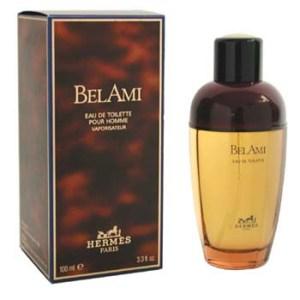 Vintage bottle and box of Bel Ami.