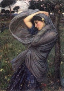 """Boreas"" by John William Waterhouse."