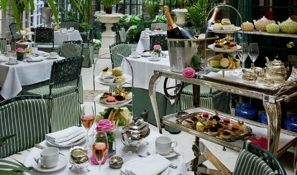 "British ""High Tea"" at the Chesterfield Hotel, London. Source: Bookatable.com"