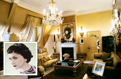 Chanel's apartment at 31 Rue Cambon. Source: GirlsGuidetoParis.com