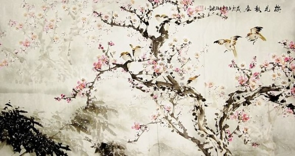 Chinese Peach blossom paintings from FengSuej com