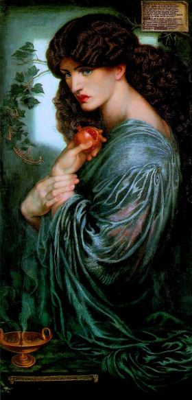 """Proserpina"" by Dante Gabriel Rossetti."