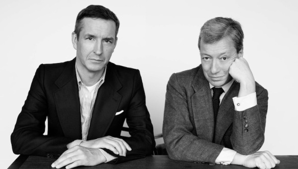 Dries Van Noten (left) with Frederic Malle (right).