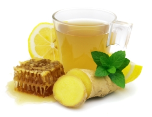 Ginger, honey, lemon tea.