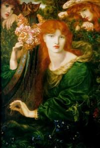 """La Ghirlandata"" by Dante Gabriel Rossetti, the leader of the Pre-Raphaelites."