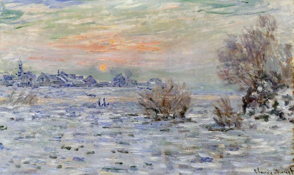 "Claude Monet. ""Winter on the Seine, Lavacourt."""