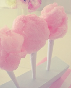Pink candy floss or cotton candy. Source: Favim.com.