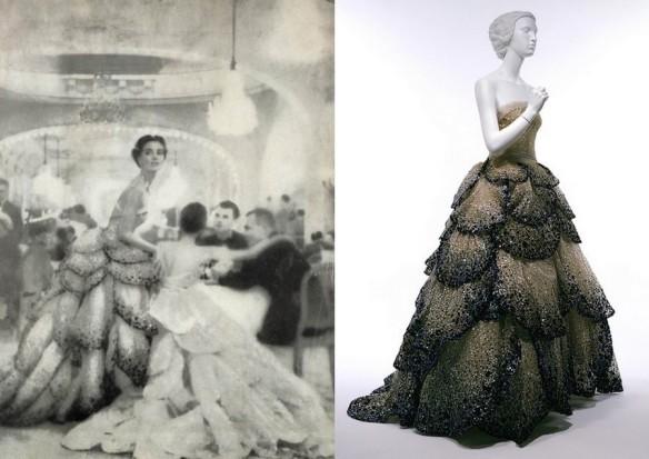 """Dior's famous """"Junon"""" dress."""