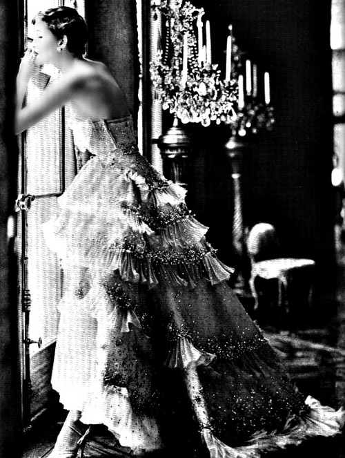Dior vintage 1950s ball gown.