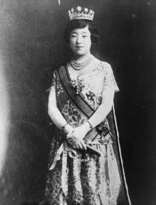 [Empress-Nagako-of-Japan,-three-quarter-length-portrait,-standing,...-painting-artwork-print