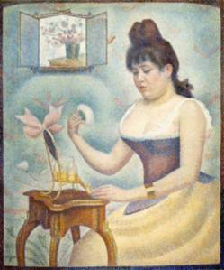 """George Seurat: """"Young Woman Powdering Herself."""""""
