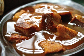 Source: The Sweet Life at TheSweetlifeonline.com. (For Pumpkin bread pudding with maple sauce recipe, click photo. Link embedded within.)