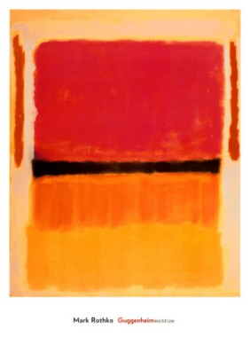 Untitled (Violet, Black, Orange, Yellow on White and Red), 1949. Source: The Guggenheim Museum.