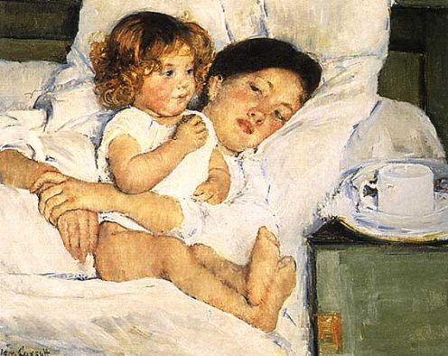 "Mary Cassatt's ""Breakfast in Bed."""