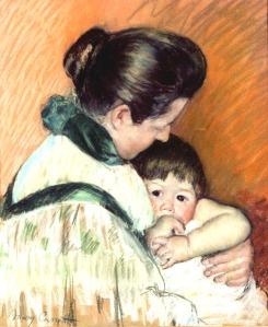 "Mary Cassatt. ""Sleepy Thomas Sucking His Thumb."" (1893)"