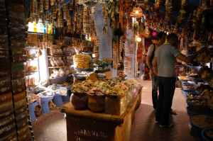 Shop in a Moroccan bazaar. Source: Moroccansouk.org.
