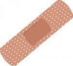 Pink rubber bandaid