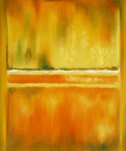 """Mark Rothko. """"No. 14-10 Yellow Greens."""""""