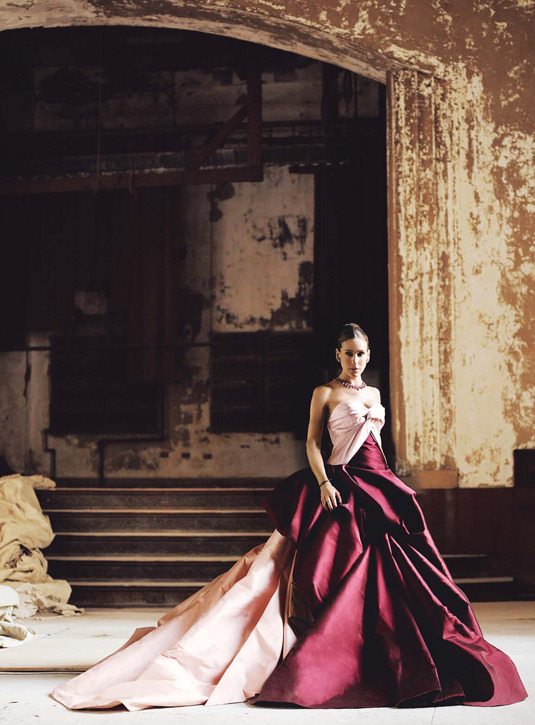 Sarah Jessica Parker in Vogue, March 2010. Dress: Dior Haute Couture. Photo: Mario Testino. Source: Vogue.com