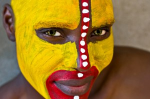 African tribal makeup via iStock.