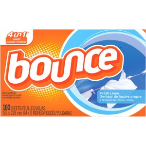 Bounce dryer sheets.
