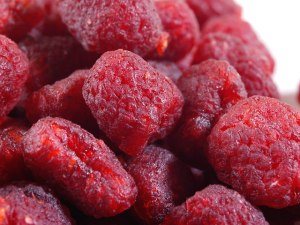 Dried raspberries via Nuts.com