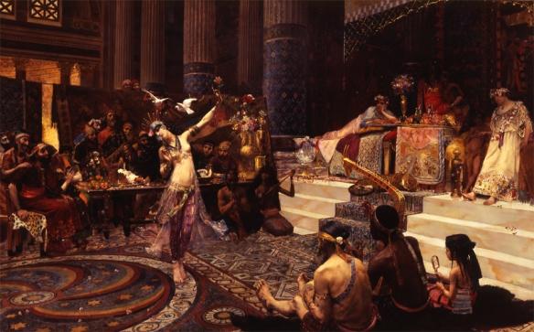 "Georges Rochegrosse (French, 1859–1929), ""Salome Dancing Before King Herod,"" 1887. Joslyn Art Museum"