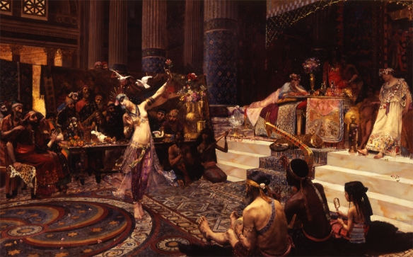 "Georges Rochegrosse (French, 1859–1929), ""Salome Dancing Before King Herod,"" 1887. Joslyn Art Museum"