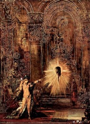 "Gustave Moreau - ""Die Erscheinung,"" or ""L'Apparition."" 1875. Part of Moreau's Salome series."