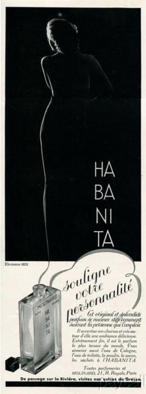 Vintage Habanita ad. Source: The Perfume Posse.