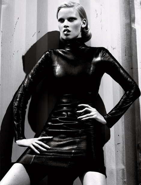 Lara Stone, the dutch model, photographed by Mert & Marcus for Interview Magazine.