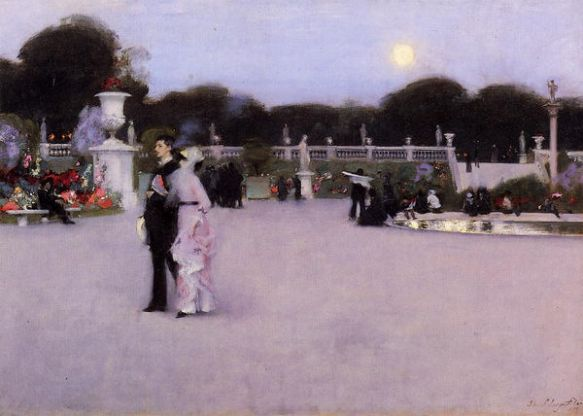 """Luxembourg Gardens at Twilight"" - by John Singer Sargent."