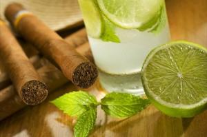 Mojito with cigar